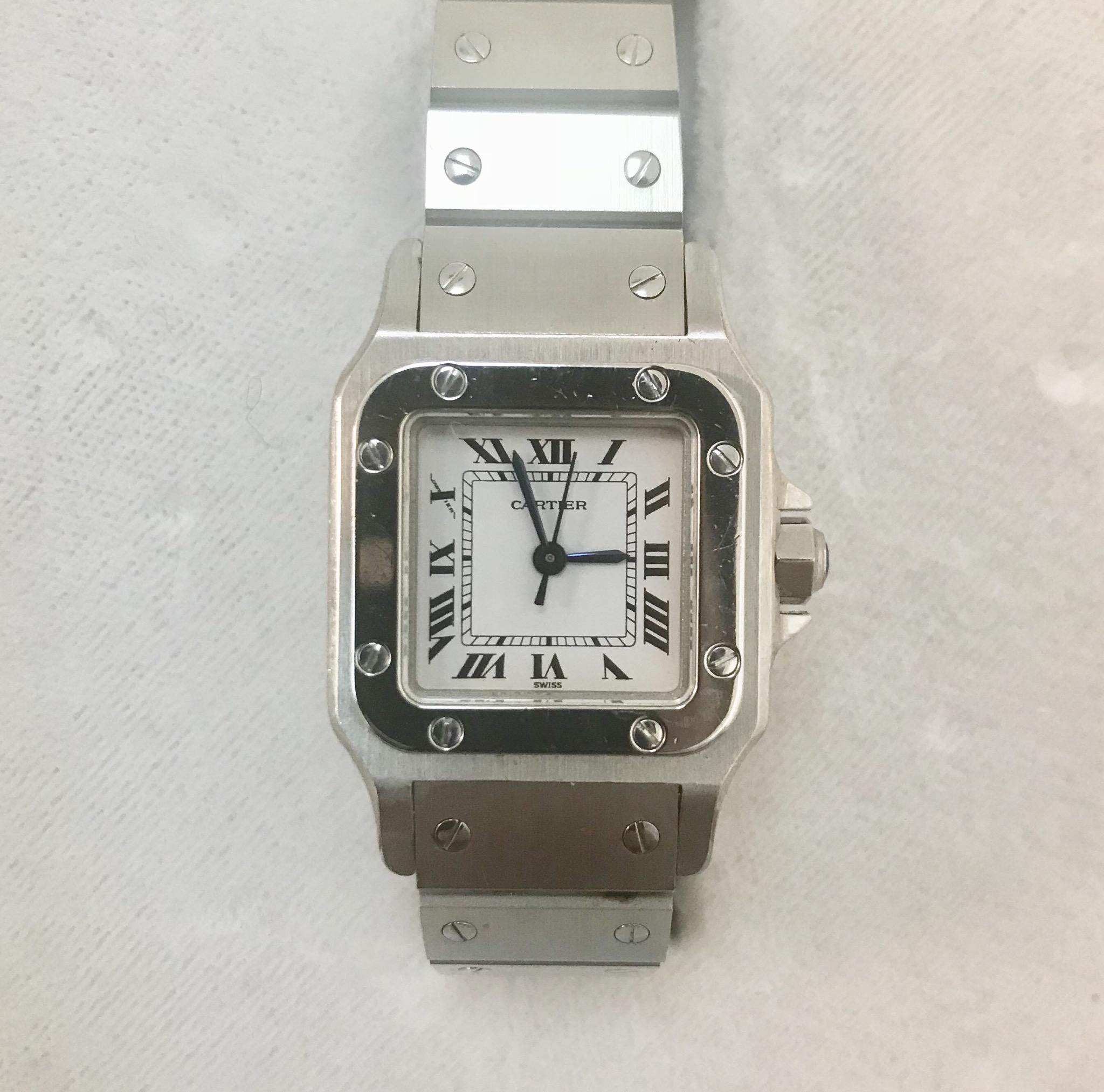 separation shoes 9edb9 3482e カルティエ 腕時計 サントスガルベSM 自動巻の買取価格 - 時計の ...